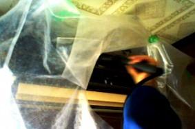 一宮市 H様邸 エアコン分解洗浄 タバコのヤニ