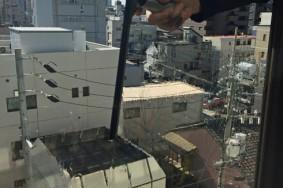 名古屋市 6F建オフィス サッシガラス 床ワックス有難うございました!