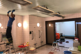 病院 施設の大浴場 カビ取り洗浄有難うございました!