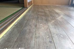 和室 縁側 白木洗い ツガ材 廊下 美白洗浄コーティング!