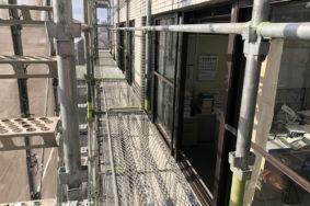 名古屋市西区サッシガラス 足場作業 有難うございました!