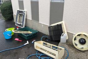 一宮市 玉野歯科様 天井カセット型エアコン2基 壁掛けエアコン1基 クリーニング有難うございました!