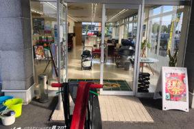 ガリバー稲沢店様 床ワックス メンテナンス ガラス清掃 有難うございました。